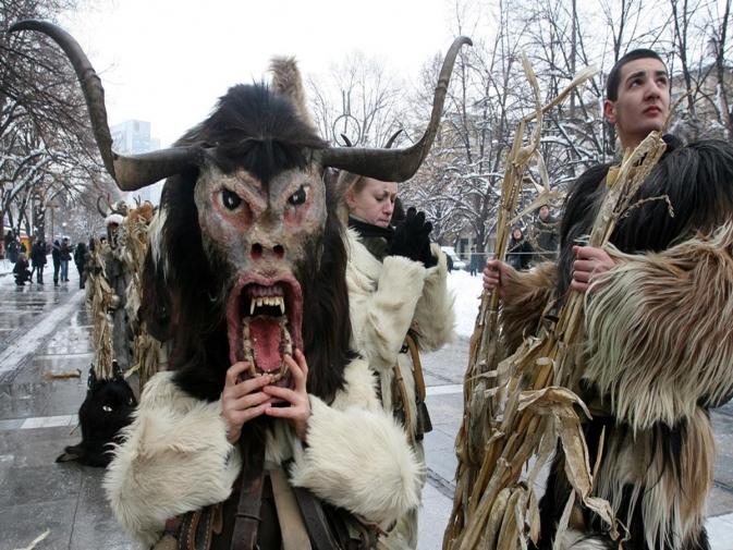 mummers chasе evil in Bansko